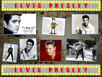 Elvis Presley: 25 slides with text, hyperlinks & primary s