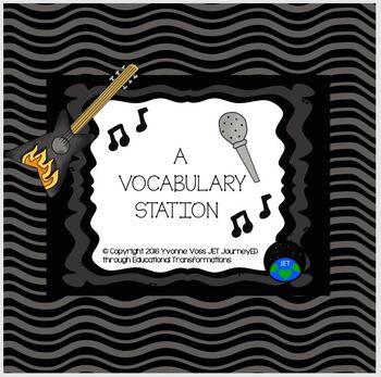 Elvis Themed Vocabulary Station