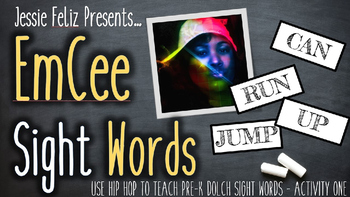 EmCee Sight Words Pre-K Activity One (PowerPoint, Music, S