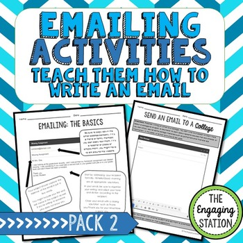 Emailing Activities: How to Write an Email - Pack 2