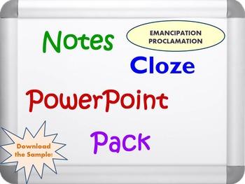 Emancipation Proclamation Pack (PPT, DOC, PDF)