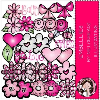 Melonheadz: Embellies clip art - pink