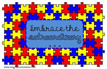 """""""Embrace the Extraordinary"""" Printable Poster-Disability/Di"""
