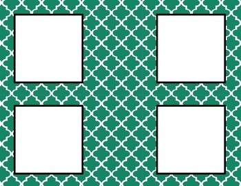 Emerald Green Tile Classroom Labels and Tags