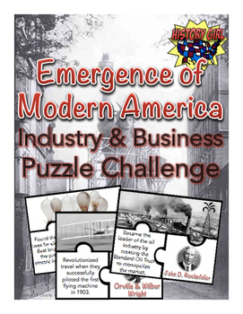Emergence of Modern America: Puzzle Challenge