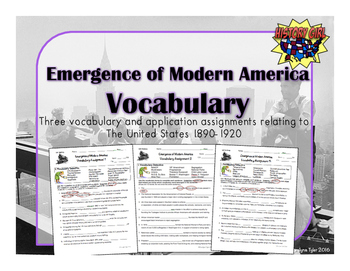 Emergence of Modern America Vocabulary Activities