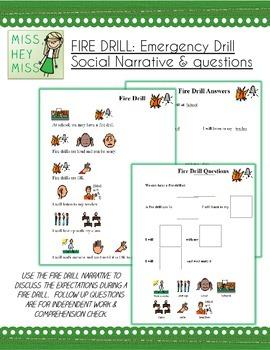 FIRE DRILL: Emergency Drill Social Narrative & Qs