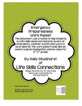 Emergency Preparedness Work Packet