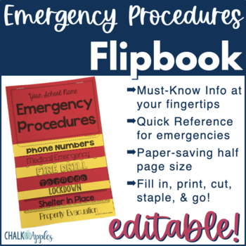 Emergency Procedures Flip Book (Editable Flipbook)