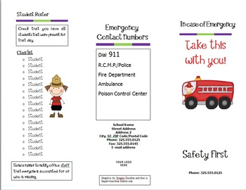 Emergency Procedures Pamphlet (Canadian Edition) {Editable}