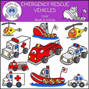 Emergency / Rescue Vehicle Clip Art