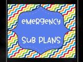 Emergency Sub Folder Grades 1-3