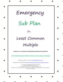 Emergency Sub Plan or Independent Student Assignment on Le