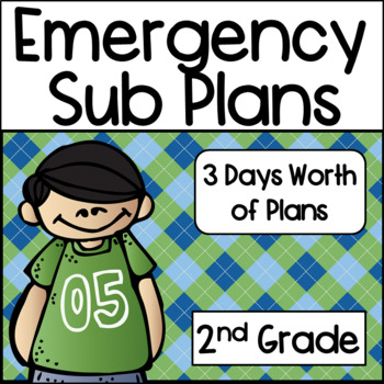 Emergency Sub Plans for 2nd Grade