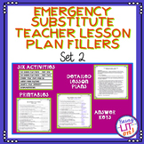 Emergency Substitute Teacher Lesson Plan Fillers - Set Two
