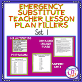 Emergency Substitute Teacher Lesson Plan Fillers - Set One