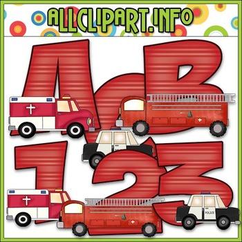 Emergency Vehicles Lettering Delights Alphas - Cheryl Sesl