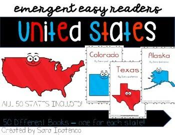 Emergent Easy Reader Book Bundle: United States - ALL 50 STATES!!