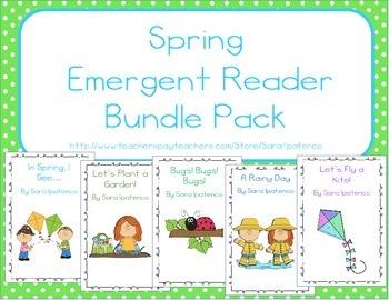 Emergent Easy Reader Book Bundle: Spring Theme