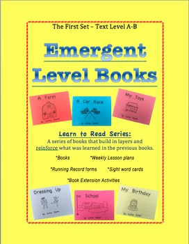 Emergent Level Books and Lesson Plans - Guided Reading Set A-B