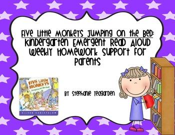 Emergent Read Aloud Home Support Pack: Five Little Monkeys
