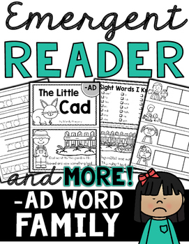 Emergent Reader (-AD Word Family) and MORE!