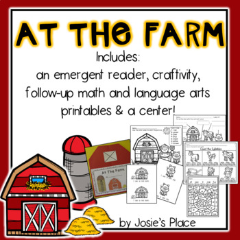 At the Farm Emergent Reader, Printables, Center and Craft-