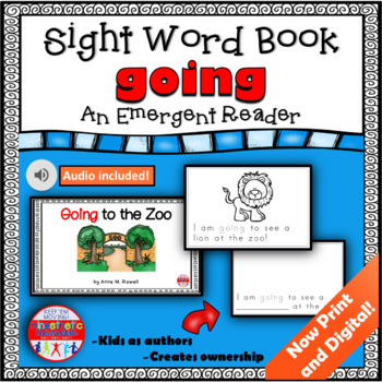 Sight Word Book Emergent Reader - GOING