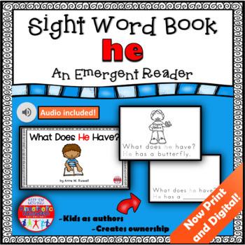 Sight Word Book Emergent Reader - HE