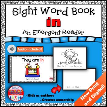 Sight Word Book Emergent Reader - IN