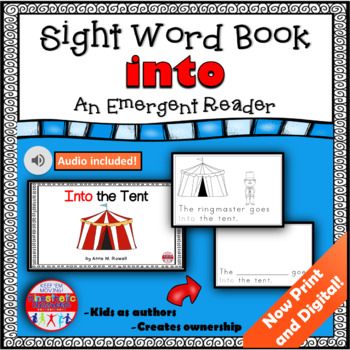 Sight Word Book Emergent Reader - INTO