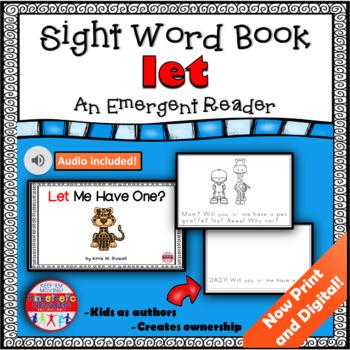 Sight Word Book Emergent Reader - LET