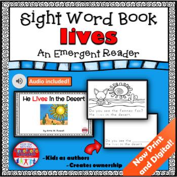 Sight Word Book Emergent Reader -  LIVE
