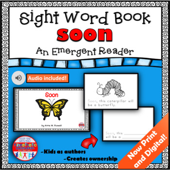 Sight Word Book Emergent Reader - SOON