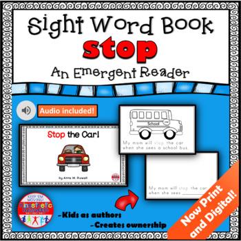 Sight Word Book Emergent Reader - STOP