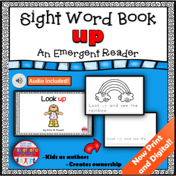 Sight Word Book Emergent Reader - UP