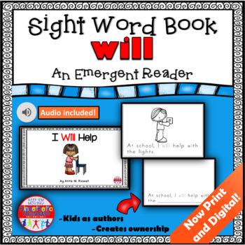 Sight Word Book Emergent Reader - WILL