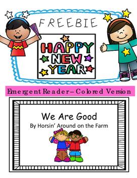 We Are Good {Emergent Reader} - FREEBIE