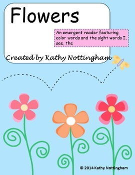 Emergent Reader Flowers Featuring Color Words