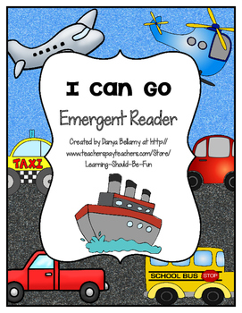 Emergent Reader:  I Can Go