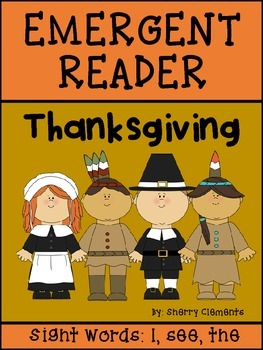 Thanksgiving Emergent Reader: I see the...