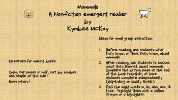 Emergent Reader - Mammals