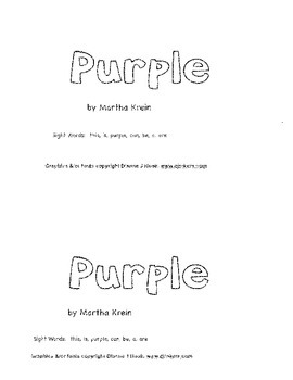Emergent  Reader: Purple