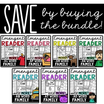 Emergent Readers (Short A Word Familes) and MORE!  BUNDLE