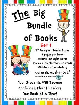 Emergent Reader Sight Word Books ~ THE BIG BUNDLE OF BOOKS ~Set 1