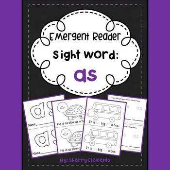 Sight Word Reader: as