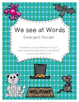 -at Word Family Emergent Reader:  We See at Words
