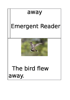 Emergent Reader: away