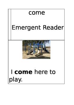 Emergent Reader: come