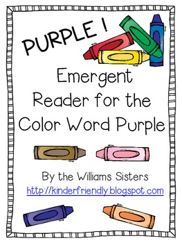 Emergent Reader for the Color Word Purple